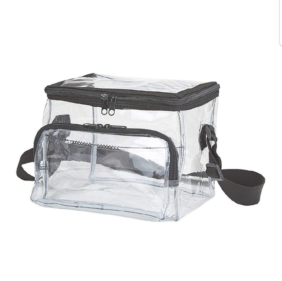 Clear Handbangs & More Handbags - Medium Clear Lunch Bag Box Tote